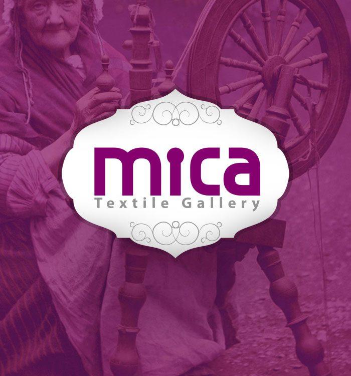 طراحی نشان تجاری گالری پارچه میکا