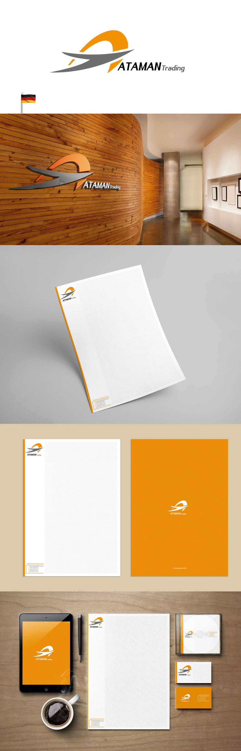 طراحی نشان تجاری و ست اداری شرکت آلمانی Ataman