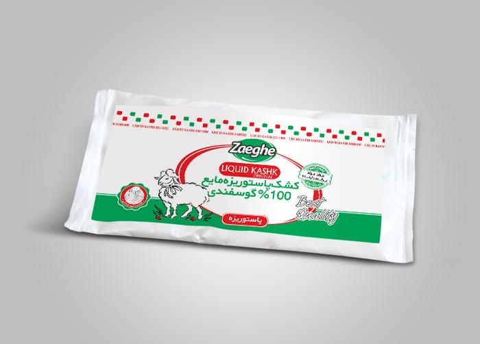 طراحی بسته بندی کشک بالشتکی ذائقه