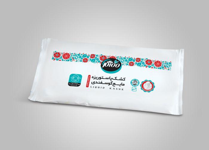 طراحی بسته بندی کشک بالشتکی صدگل