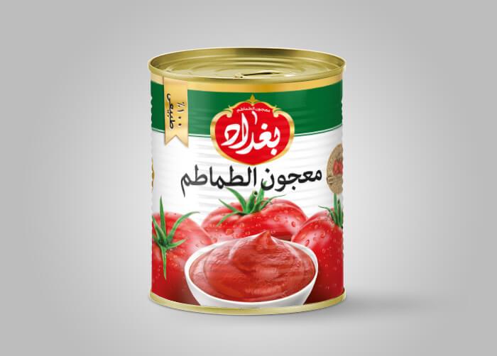 طراحی بسته بندی رب گوجه فرنگی بغداد