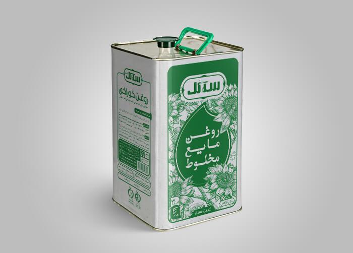طراحی بسته بندی روغن مایع مخلوط سه گل