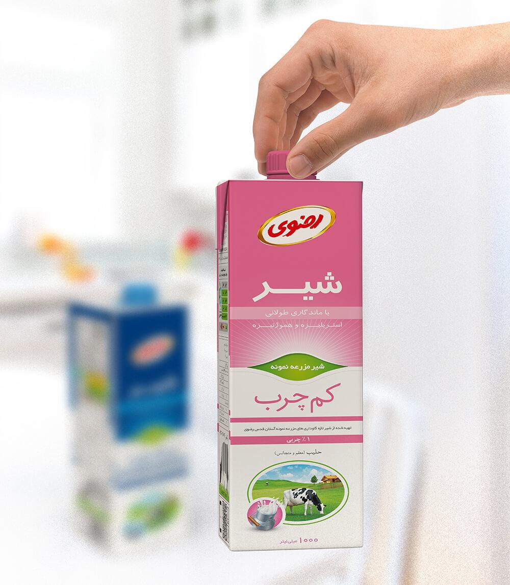 بسته بندی شیر استریل