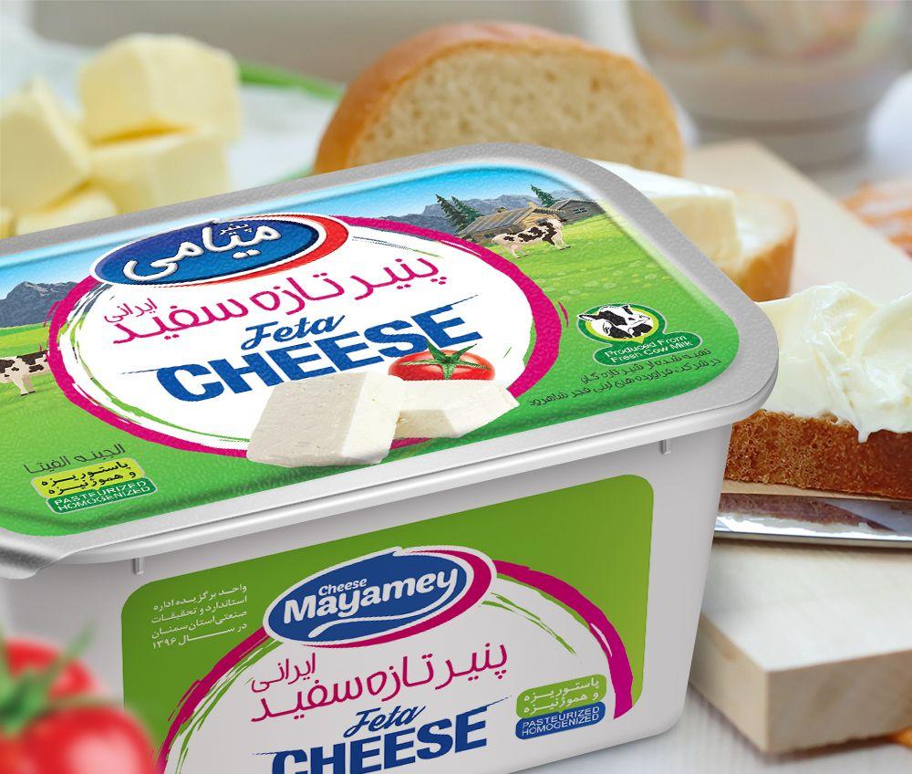 طراحی فویل بسته بندی پنیر میامی