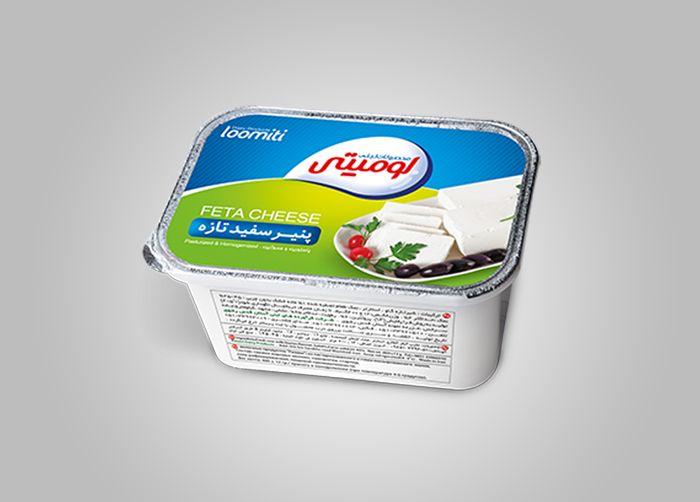 طراحی فویل و بسته بندی پنیر سفید لومیتی