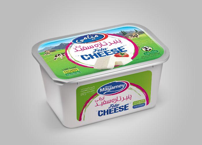 طراحی فویل و بسته بندی پنیر سفید میامی