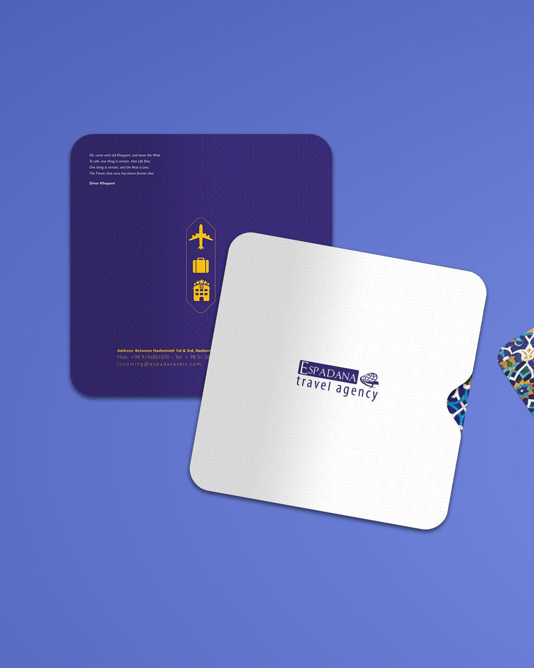 طراحی بروشور آژانس مسافرتی اسپادانا