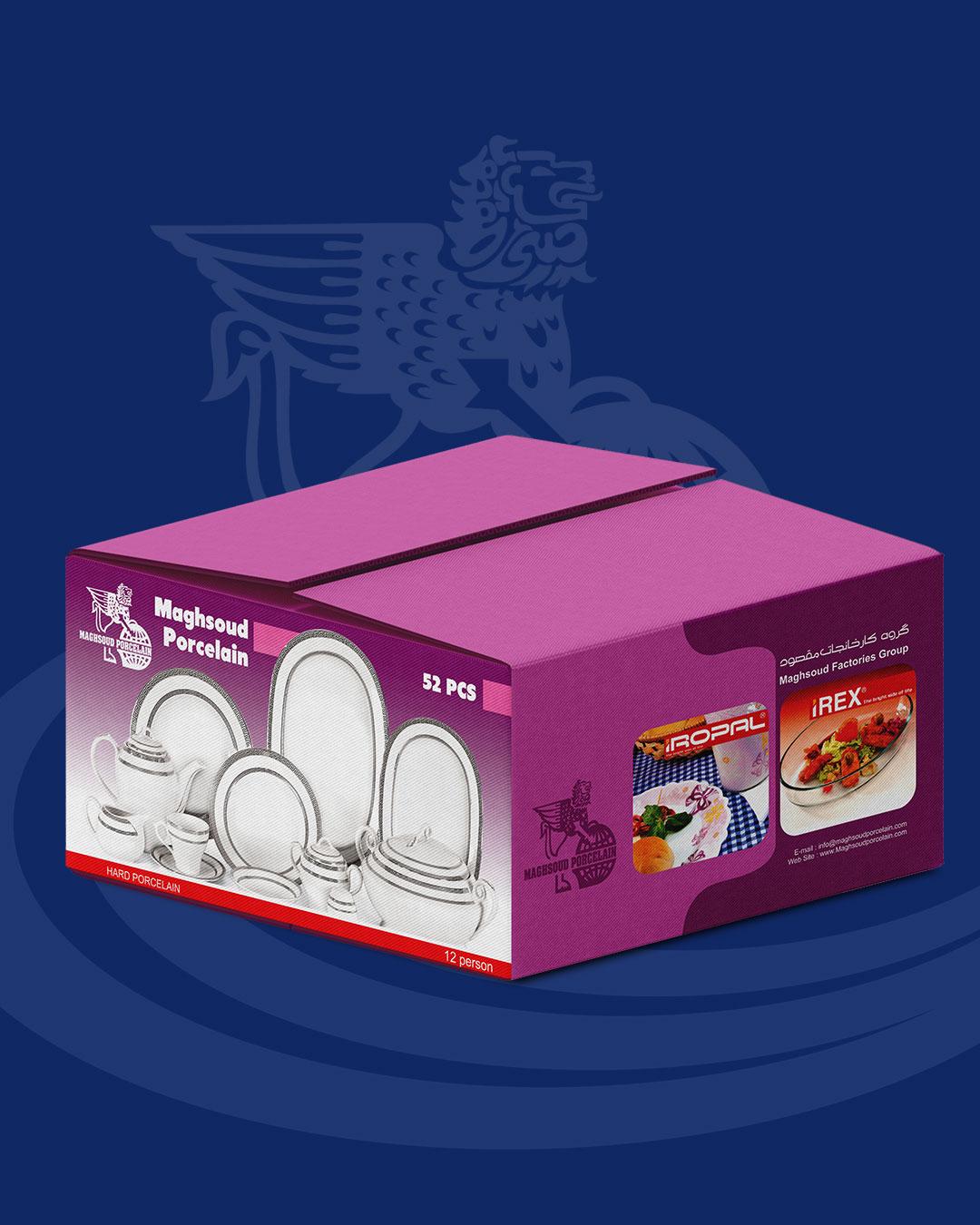 طراحی بسته بندی کارتن مادر برای محصولات گروه چینی مقصود